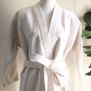 Linen spa robe set or karate outfit